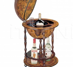 """Pegaso"" floor bar globe on wheels"