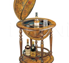 """Orione"" bar globe with wooden meridian and bottle carrier"