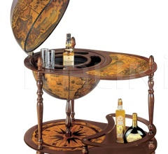 """Cassiopea"" large trolley bar globe with serving tray"