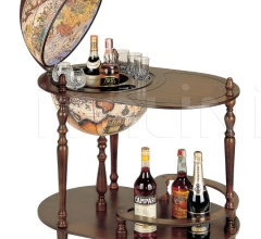 """Vivalto"" trolley bar globe with serving tray"