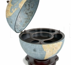 """Galileo"" desk globe drinks cabinet - Blue Dust"