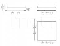 Кровать Groundpiece Slim Flexform