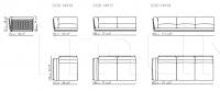 Модульный диван Cestone 09 Flexform
