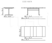 Раздвижной стол Fly Flexform