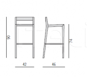 Барный стул Bryant sgabello Porada