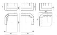 Модульный диван Davis IPE Cavalli (Visionnaire)