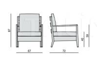 Кресло Bryant high max poltrona Porada