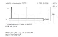 Подвесной светильник Light Ring Horizontal Henge