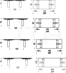 Раздвижной стол Azimut Cattelan Italia