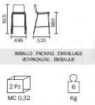 Барный стул Inga 5686 Pedrali