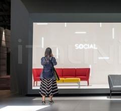 Банкетка Social DSO_2P фабрика Pedrali