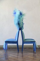 Инсталляция в синих тонах для Giorgio Collection