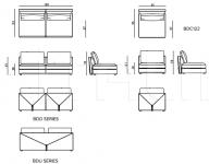 Модульный диван Bastian Dual IPE Cavalli (Visionnaire)