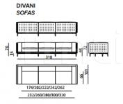 Модульный диван Legend IPE Cavalli (Visionnaire)