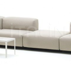 Soft Modular Sofa four-seater, platform