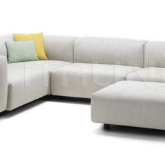 Soft Modular Sofa Three-seater, corner element, Ottoman