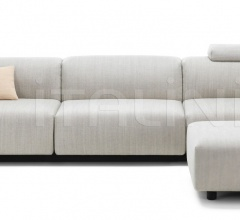 Soft Modular Sofa Three-seater, Ottoman