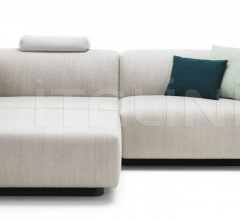 Soft Modular Sofa Two-seater, Chaise Longue