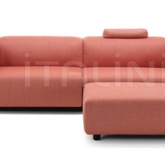Soft Modular Sofa Two-seater, Ottoman
