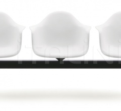 Eames Plastic Armchair beam seating
