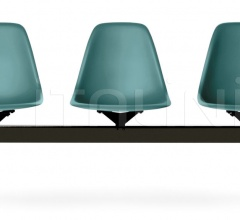 Eames Plastic Side Chair beam seating