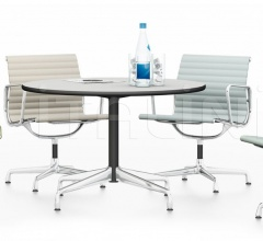 Eames Table 110 cm, Aluminium Chair EA 108