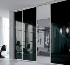 Porta plana free luxor vetro nero