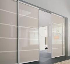 Porta plana free minimal vetro sabbia