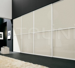Porta plana incasso free 2 medium vetro tortora