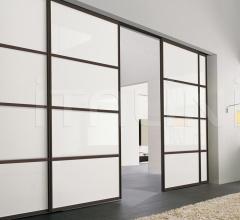 Porta plana incasso free 4 minimal vetro neve