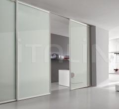 Porta plana incasso free minimal vetro bianco