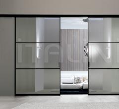 Porta plana parete free 3 luxor vetro reflex