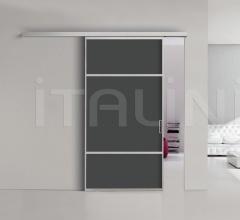 Porta plana parete free 6 luxor vetro nero