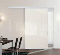 Porta plana parete free medium vetro tortora