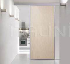 Porta plana parete free minimal sydney sbiancato