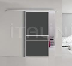 Porta plana parete free 5 luxor vetro nero