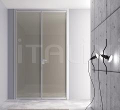 Porta simple free luxor vetro terra doppio
