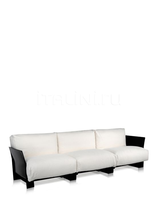 Трехместный диван Pop Linen Kartell