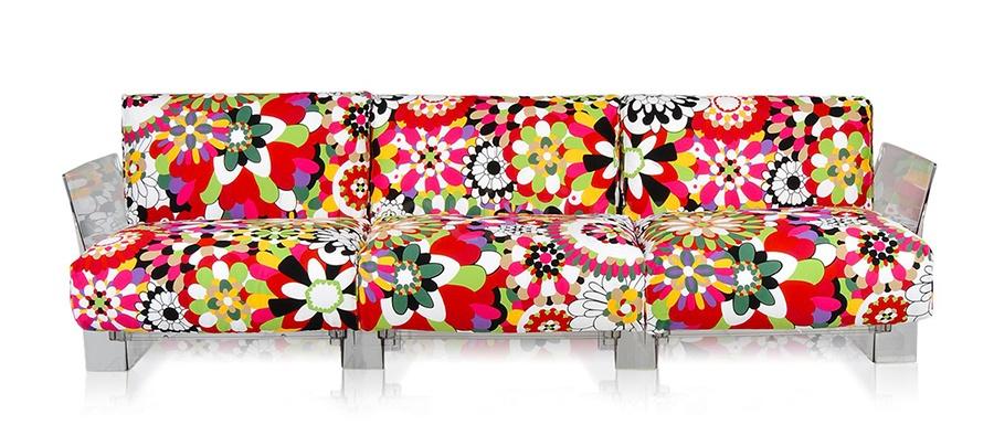 Трехместный диван Pop Missoni Kartell