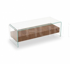 Столик Bridge with drawer & shelf фабрика Sovet italia