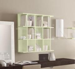 Итальянские шкафы - Навесной книжный шкаф Smile (4 деления) фабрика Benedetti Mobili