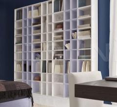 Итальянские стеллажи и полки - Модульный книжный шкаф Lol фабрика Benedetti Mobili