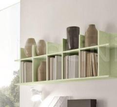 Итальянские стеллажи и полки - Навесной книжный шкаф  Smile (3 деления) фабрика Benedetti Mobili