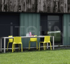 Итальянские столы - Стол обеденный Sushi slatted Outdoor фабрика Kristalia