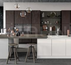 Итальянские кухни с барной стойкой - Кухня GLASS 1 фабрика Arredo3 srl