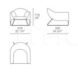 Кресло Bali Poliform