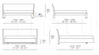 Кровать Teo Poliform