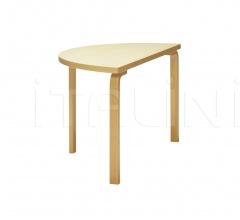 Aalto table half round 95