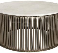 Lenox Coffee Table, Antique Silver, Metal and Stone GTAB1008ASV