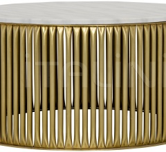 Lenox Coffee Table, Antique Brass, Metal and Stone GTAB1008MB